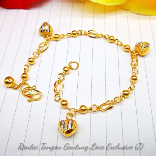 RANTAI TANGAN GANTUNG LOVE EXCLUSIVE (J)
