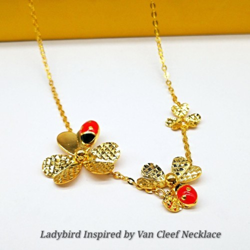 LADYBIRD INSPIRED BY VAN CLEEF NECKLACE